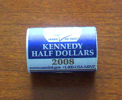 2008-P  Uncirculated KENNEDY HALF Dollar ROLL - Mint Wrapped