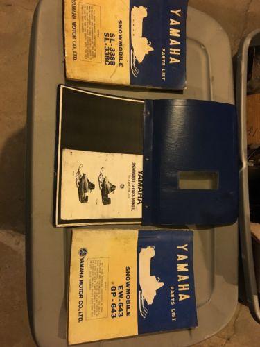 Vintage Yamaha Parts Service Manuals 338 643 396