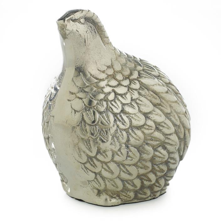 New Metal Stylized Decorative Partridge Quail Bird Paperweight Shelf Sitter
