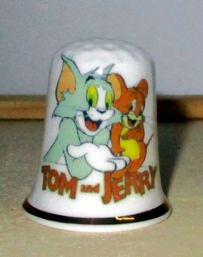 Tom & Jerry Cartoon Characters Thimble Fine English Bone China