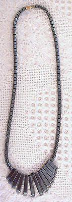 Handmade Hematite Drop Front 18
