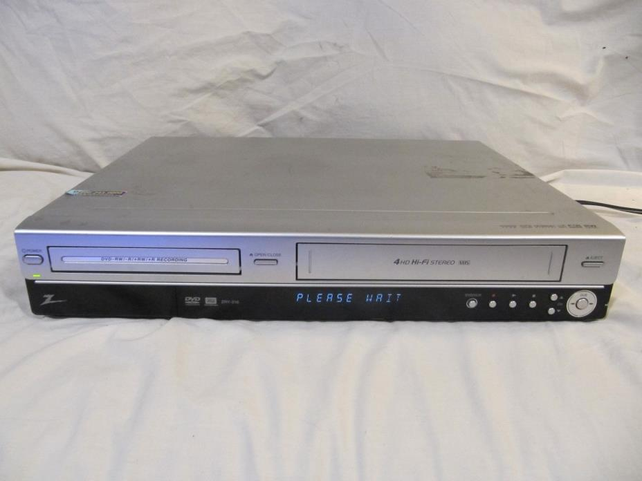 Zenith DVD Recorder and VCR Player Combo - ZRY-316 - Silver - Tested (184)