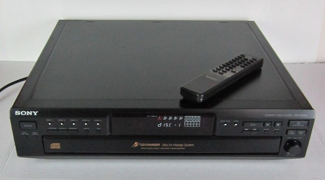 Sony CDP-CE245 5-Disc Carousel CD Player Changer With Original Remote FREE SHIP