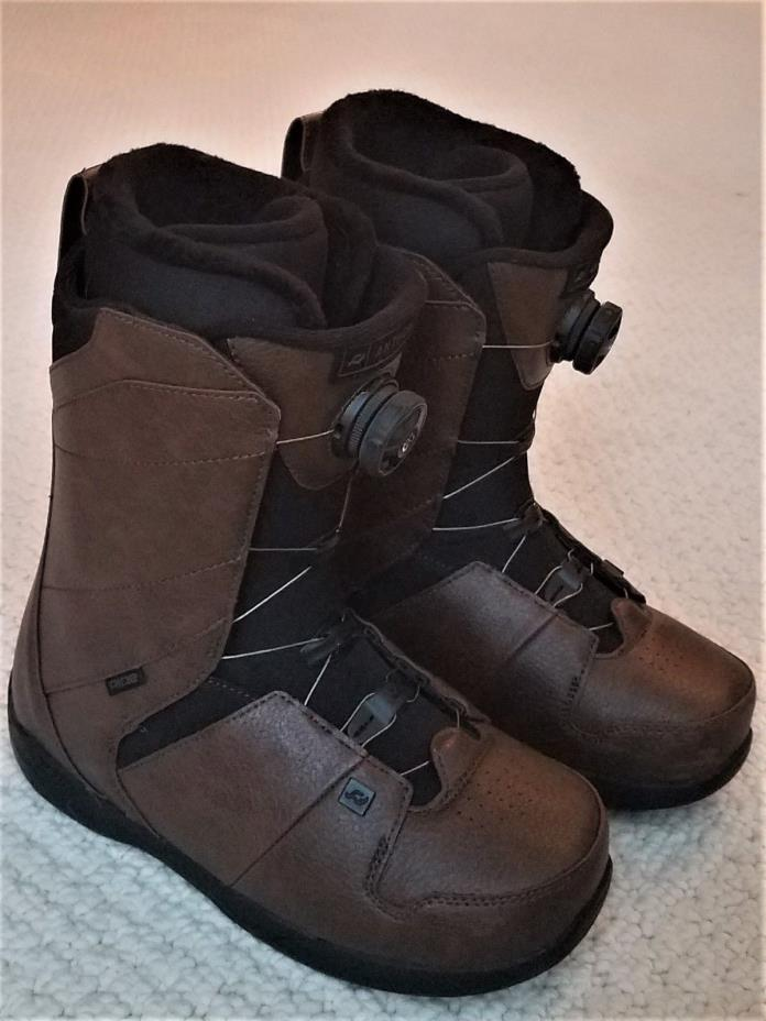 Ride Anthem Mens BOA Snowboard Boots Size 8 (Excellent Condition, Not a Scratch)