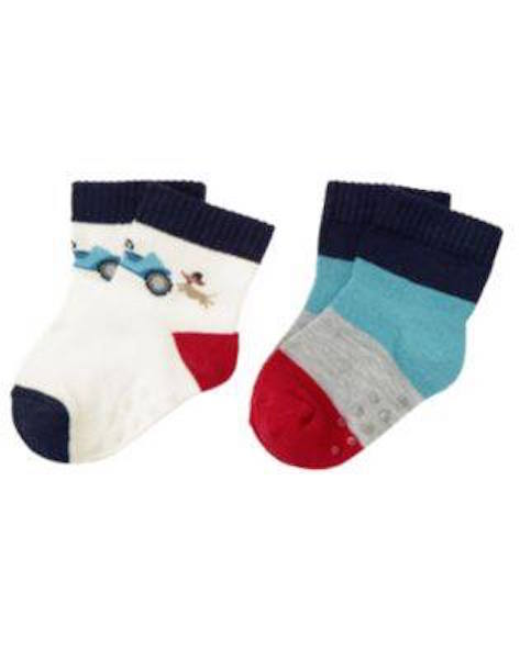 Nwt Gymboree Handsome Pup Dog Chasing Car and Striped Socks Size 0-3 Months