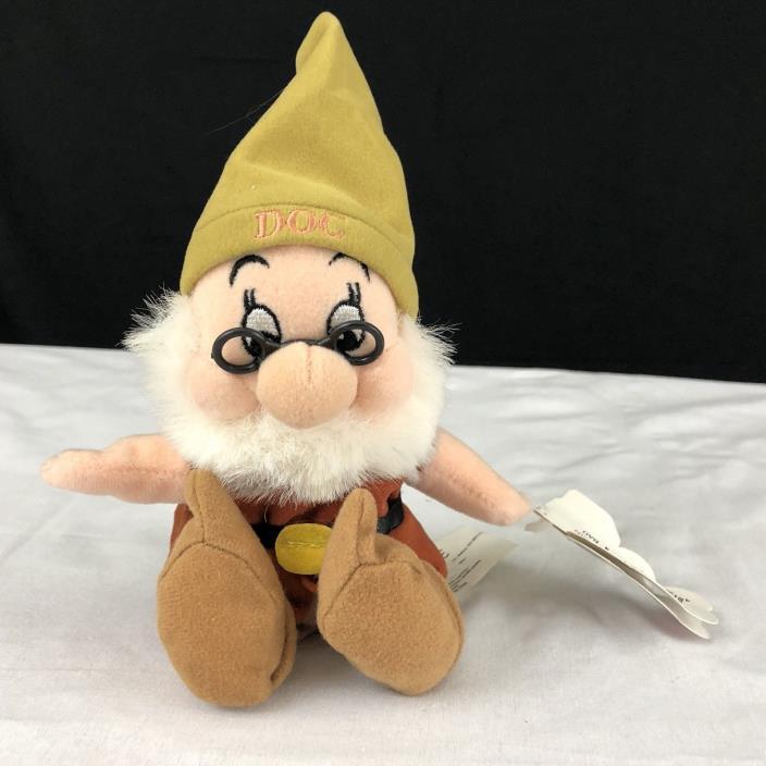 DOC Disney Mouseketoys Dwarf Mini Bean Bag Plush Snow White & 7 Dwarfs  9