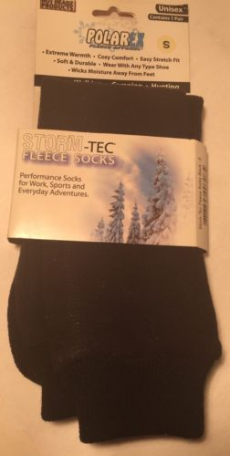 Storm -Tec Fleece Socks Unisex Size Small Color Black