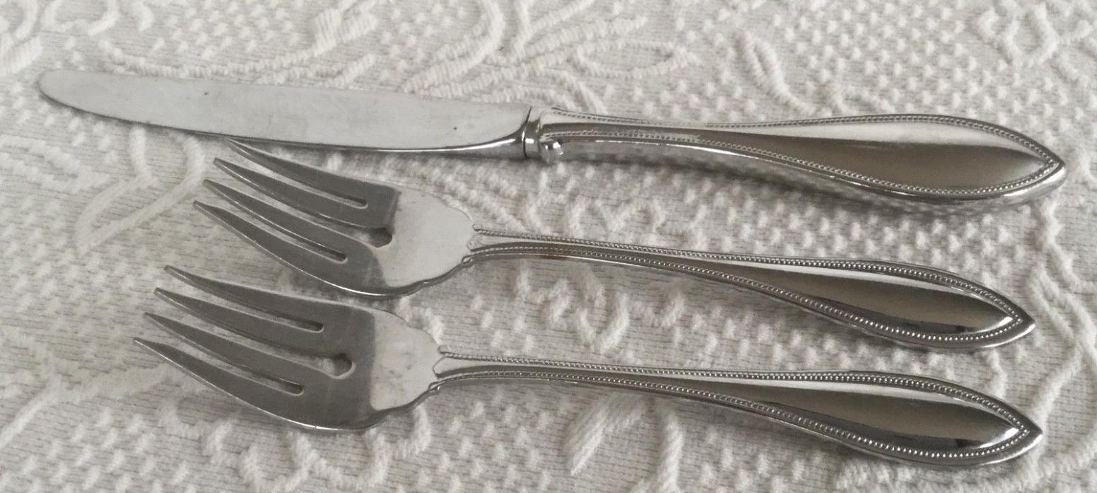 ONEIDA STAINLESS ARBOR-AMERICAN HARMONY PATTERN 1 Knife 2 Salad Forks