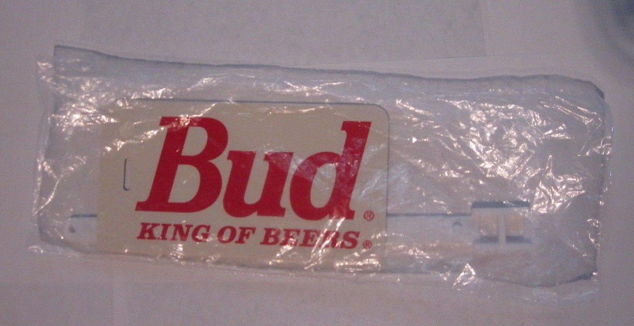 Bud King Of Beers Budweiser Luggage Tag and ID Card Sealed Vintage