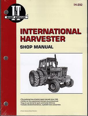 INTERNATIONAL HARVESTER TRACTOR SHOP SERVICE MANUAL 544,656,666,686 IH-202 (213)