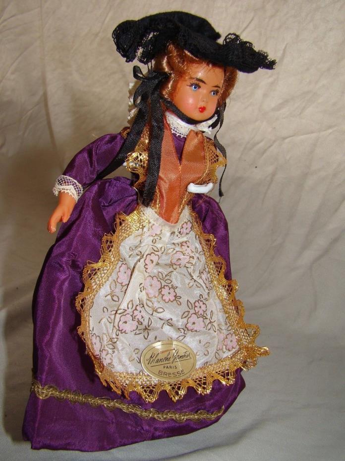 VTG Celluloid Doll Blanche Gautier Les Poupees Paris Bresse 8.5