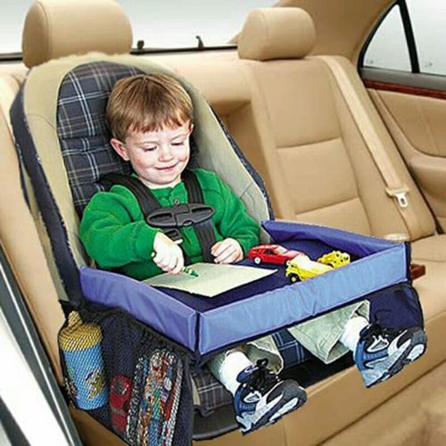 Waterproof table Car Seat Tray Storage Kids Toys Infant Stroller Holder for...