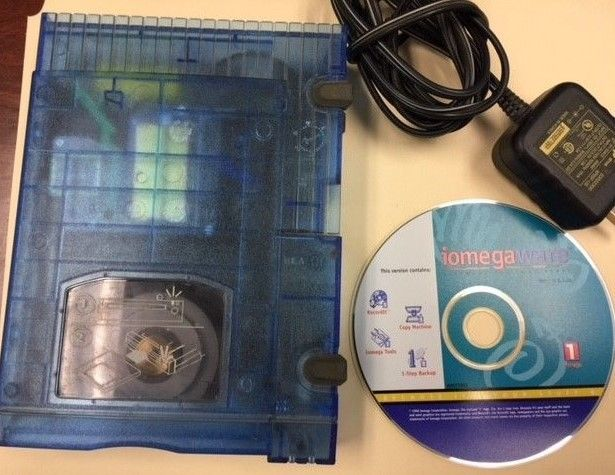 Iomega Zip 100 Zip Drive with Power Supply & Software