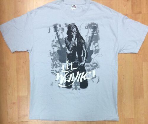 Lil Wayne Rap Rock Men's X-Large Shirt Color Light Gray Rapper
