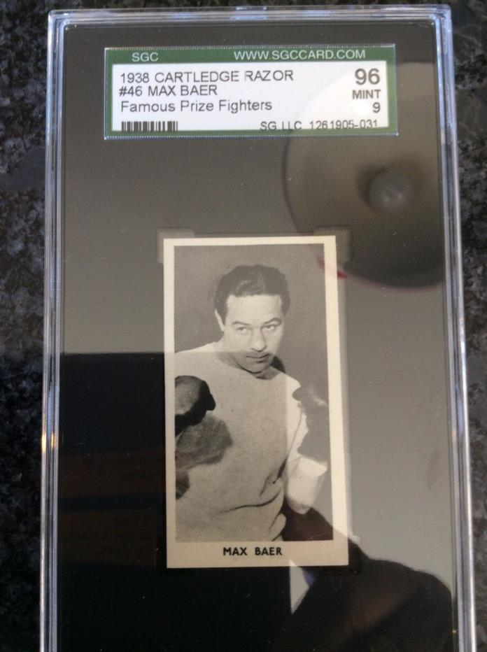 SPECTACULAR !!! SCG 9 MINT GRADE Cartledge MAX BAER #46
