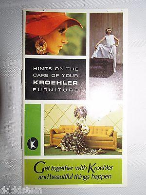 VINTAGE 1969 KROEHLER FURNITURE CARE OF YOUR FURNITURE PAMPHLET - ADVERTISING