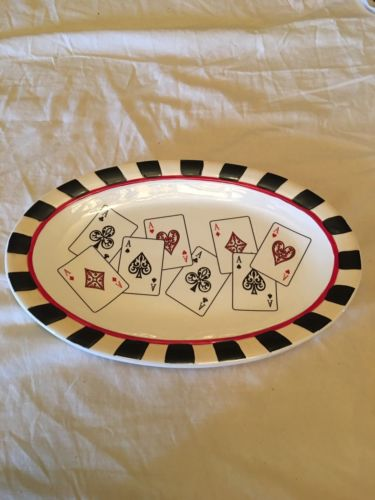 PLAYING CARD PLATTER HEARTFELT KITCHEN CREATIONS BY YOUNG