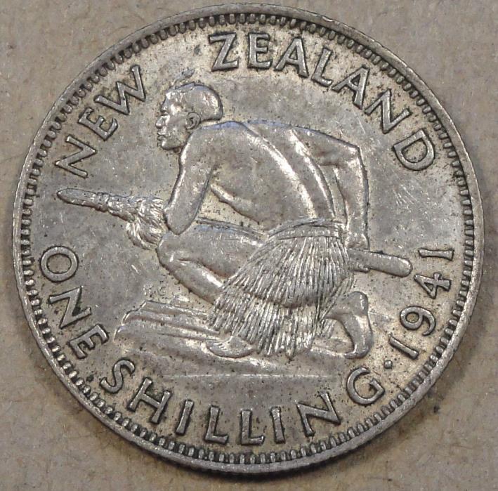 New Zealand 1941 Shilling XF