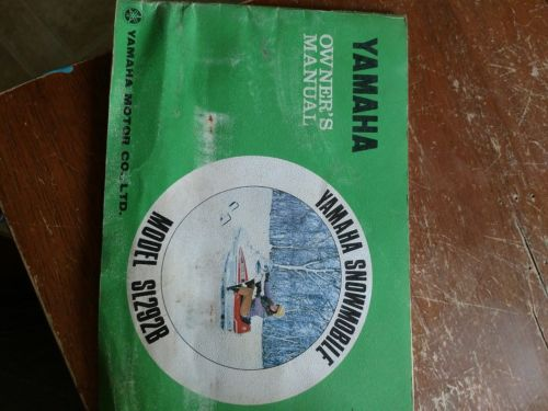 yamaha sl292 owner's shop manual