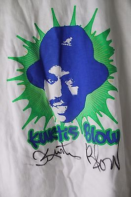 Autographed Kurtis Blow T-Shirt & Signed Best of Kurtis Blow CD Pepsi Fruitworks