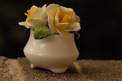 Vintage Healacraft Fine Bone China Rose Bouquet Vase England