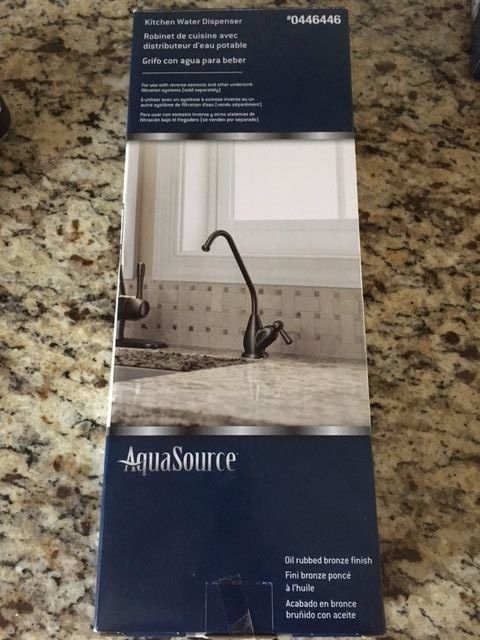 AquaSource Oil Rubbed Bronze Faucet NEW IN BOX 0446446