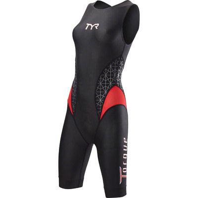 TYR Torque Pro Women's Swimskin Black/Red SM