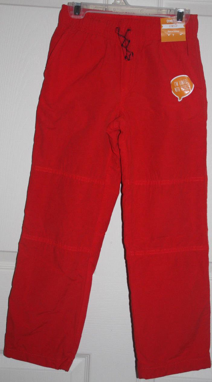 NWT Gymboree Boys Gymster Pants Fleece Lined Pull On Active Red color Size 2T