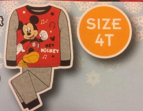 Disney Mickey Mouse Kids Pajamas 2 Piece SleepWear Set - Size 4T - NWT