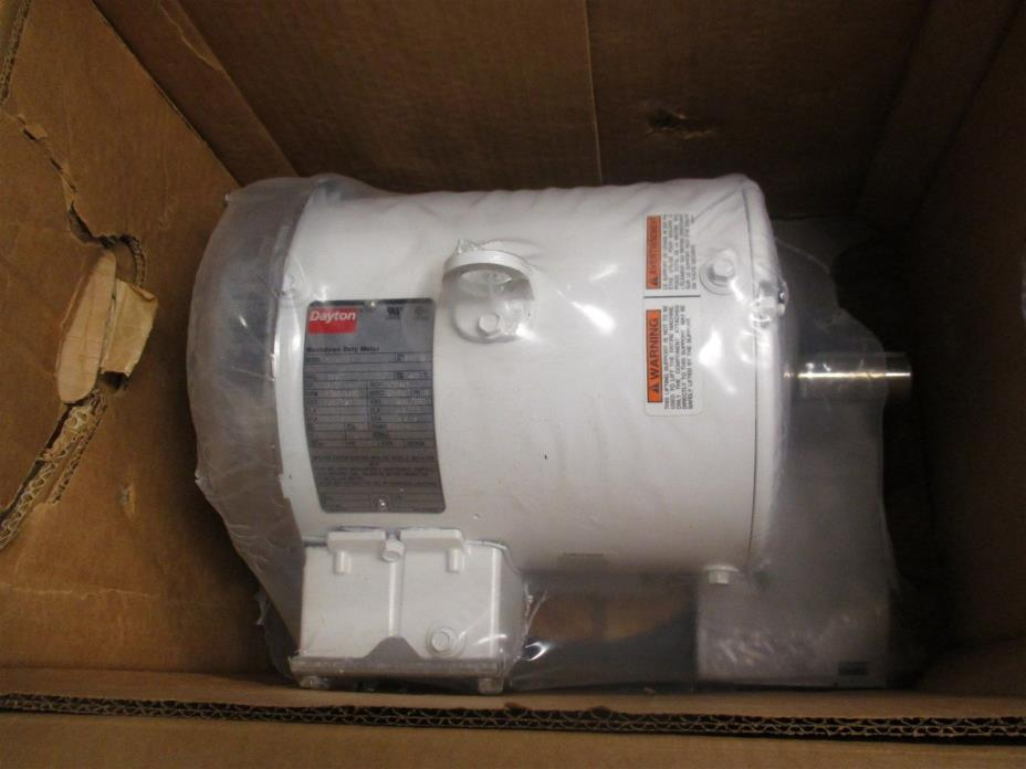 3 HP Washdown Motor, 230/460 Voltage, 3-Phase, 1760 Nameplate RPM, Continuous