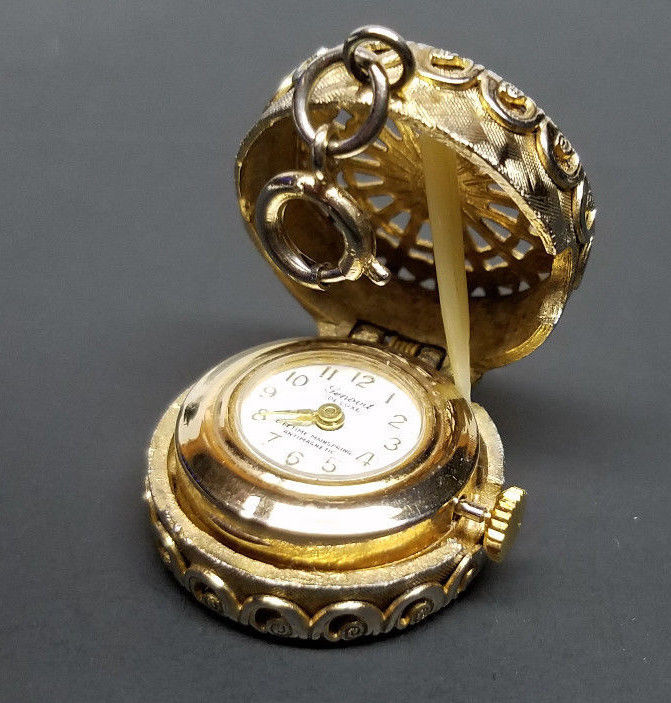 Vintage GENOVIT De Luxe Wind-up Pocket Watch - Gold -Manual Movement -Swiss