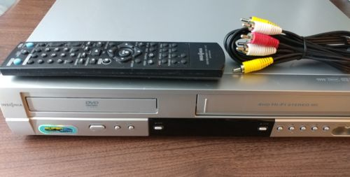 Insignia DVD040924 DVD Player VCR Combo Dual Deck VHS Recorder w/Remote & Cables