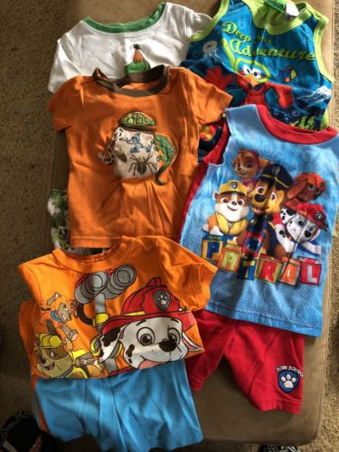 Lot Baby Boy toddler 2T Pajamas PJ's Jammies summer shorts,18-24 months Birthday