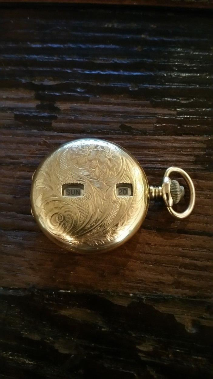 Vintage Armex Gold Pocket Watch  17 Jewel