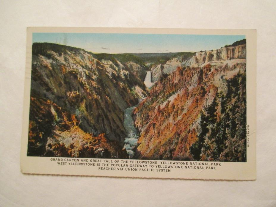 Grand Canyon and Great Fall Yellowstone National Park Postcard