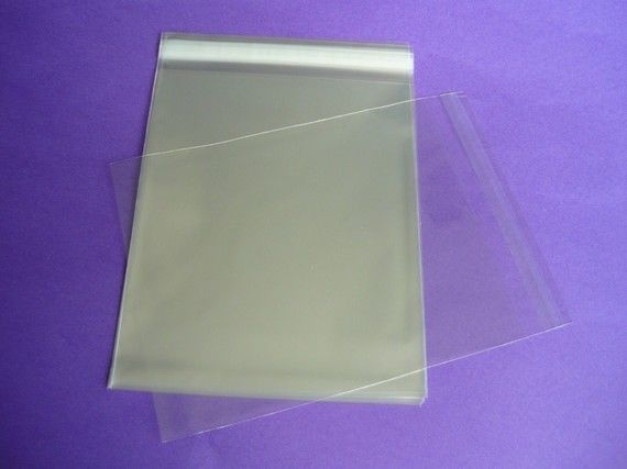 100 8.4 x 10.25 (8x10) Clear Resealable Cello Bag Plastic Envelopes IRREGULAR