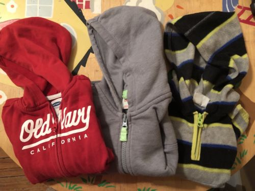 Lot of Toddler Boys Hooded Long Sleeve Sweatshirts size 2T/18-24 months