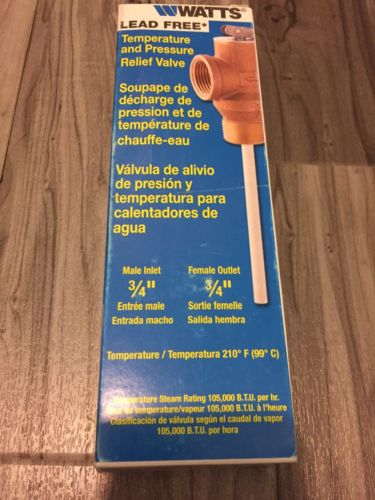 NEW Watts LF 100XL Water Heater Temperature and Pressure Relief Valve 3/4