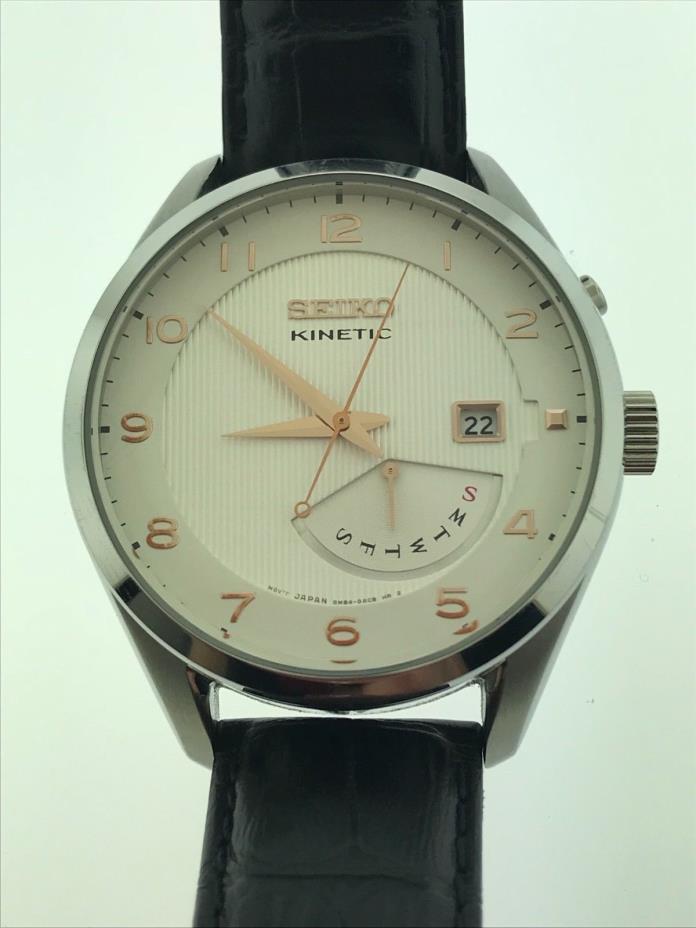 Seiko Kinetic Men's Wrist Watch5M84-0AC0