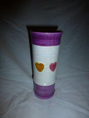 Valentine's Irredescent Ceramic Heart Vase