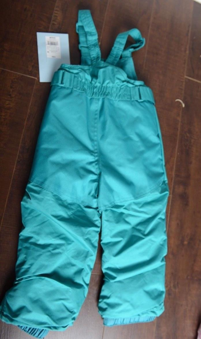 New CAT & JACK Toddler Heavyweight Snow Bibs Turquoise Blue 18M Pants ski