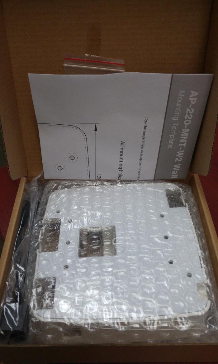 HP Enterprise AP-220-MNT-W2W AP Box Style Secure Flat Mt Kit w/1 Surface  JW049A