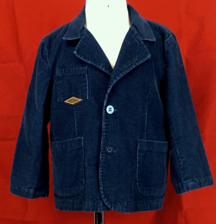 223 Joseph Abboud boy blue corduroy Blazer sport jacket coat jeans EUC 3