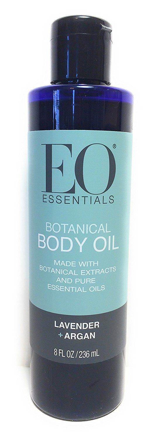 EO Essentials Botanical Body Oil Lavender + Argan Oil Pure Essential 8 oz 236 mL