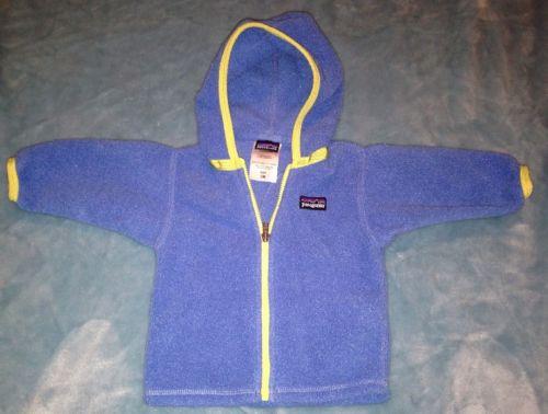 Patagonia Baby Blue Synchilla Fleece Zip Jacket Coat Size 3 Months EUC!!!