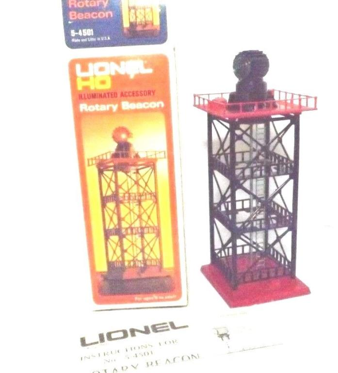 HO RARE VINTAGE LIONEL ILLUMINATED OPERATING RED GREEN BEACON 360 ROTATION IN BO