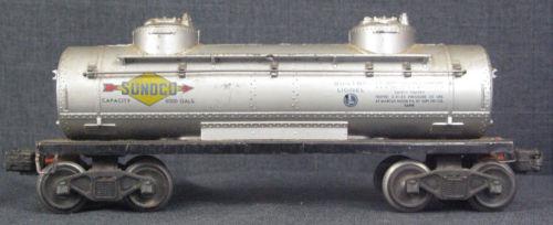 Lionel 2465 Sunoco Two Dome Tank Car In Good Condition