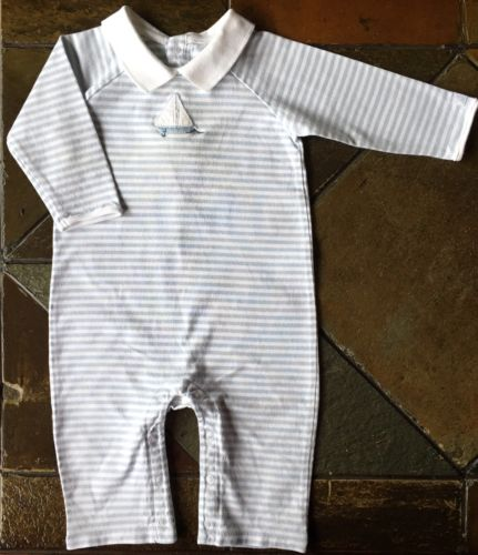 Janie And Lack size 3 6 months one piece Outfit Blue striped Sailboat Boats