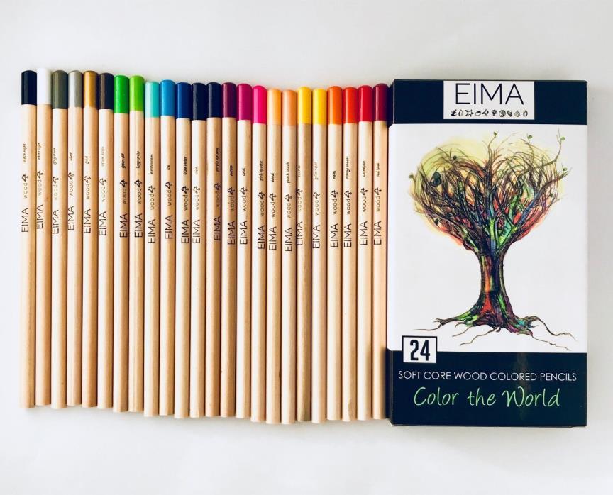 Soft Core Colored Pencils box of 24 by EIMA
