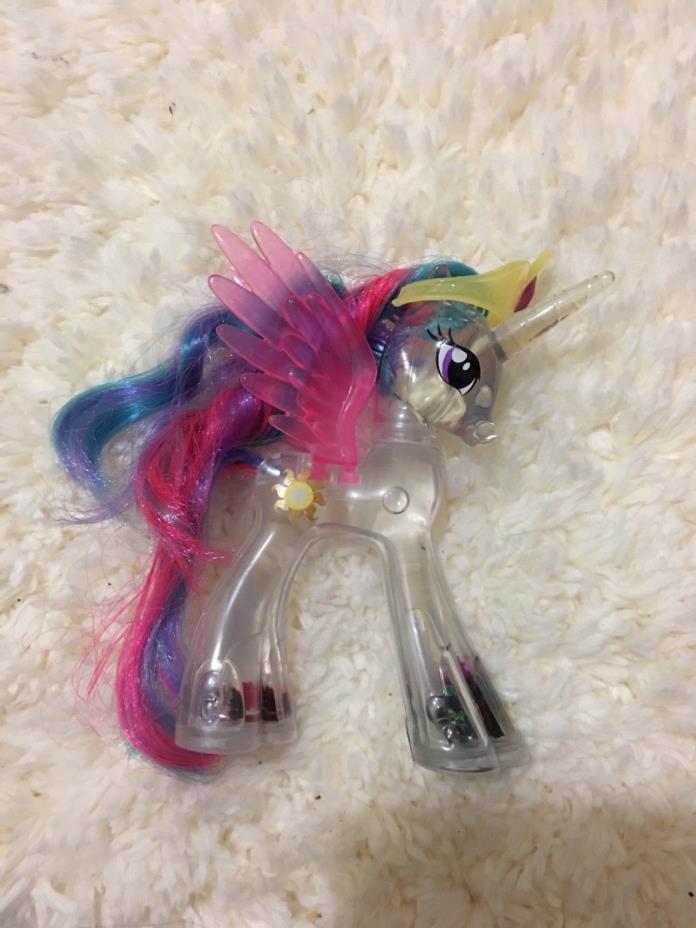 My Little Pony Brushable Rainbow Shimmer PRINCESS CELESTIA Water Glitter Pony